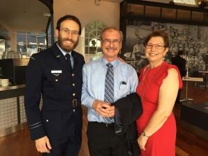 Chaplain Rabbi Friedman, NAJEX Board Member, Peter Allen and Gloria Allen