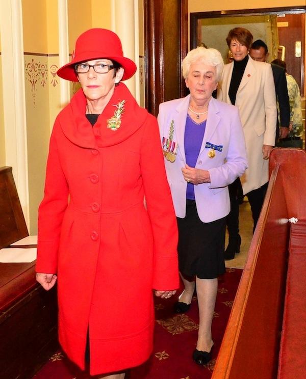 Entering the Sanctuary – Mrs Linda Hurley, Mrs Sari Browne OAM, Mrs Margaret Abbott, Prime Minister, The Hon Tony Abbott MP (Photo taken by Henry Benjamin on behalf of CoAJP)